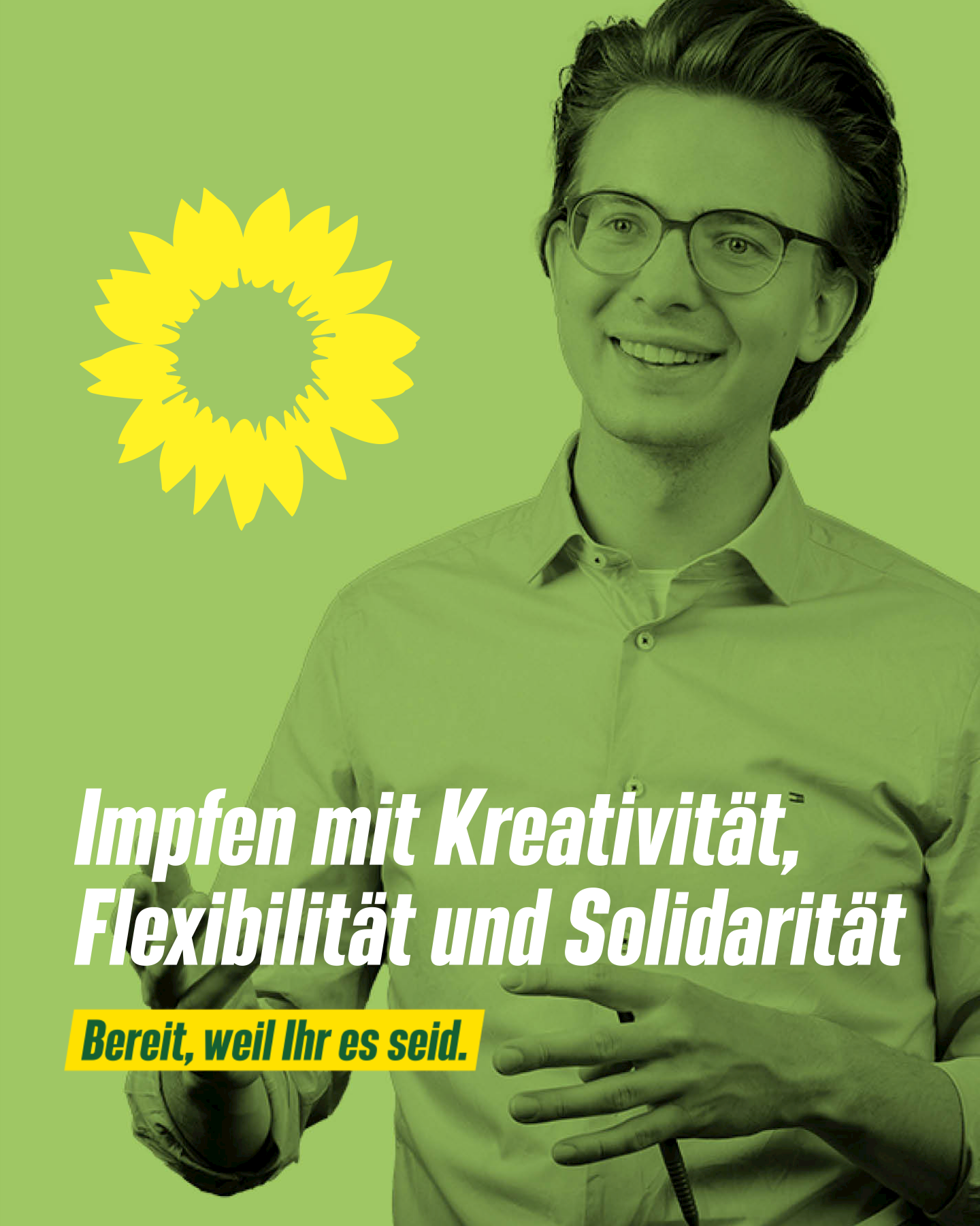 Leon Eckert wirbt für kreative Ideen beim Impfen
